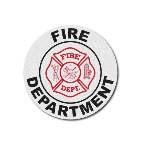 Round Helmet Front Decal - Fire Rescue