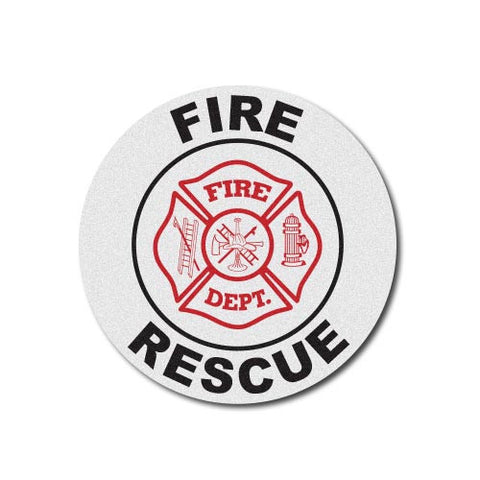 Round Helmet Front Decal - Fire Department