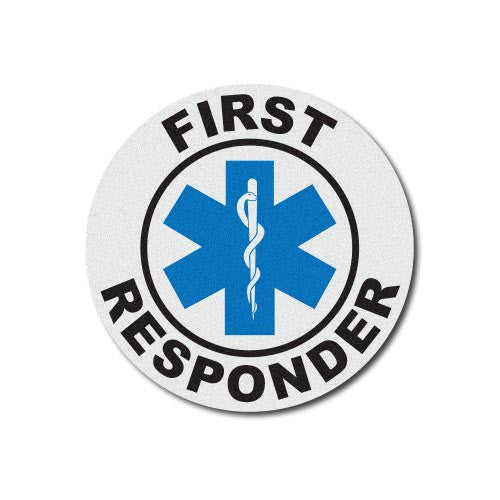Round Helmet Front Decal - First Responder