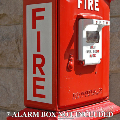 Gamewell Fire Box Decal Set - Reverse