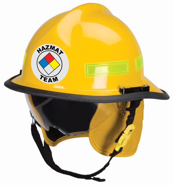 Reflective Round Fire Helmet Front Decal