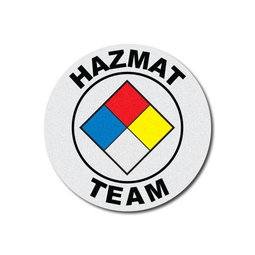 Round Helmet Front Decal - Haz-Mat Team