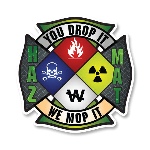 HAZ-MAT Maltese Cross Car Decal - 4""
