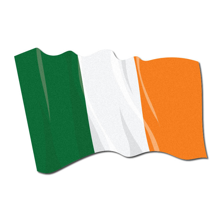 Reflective Waving Irish flag decal