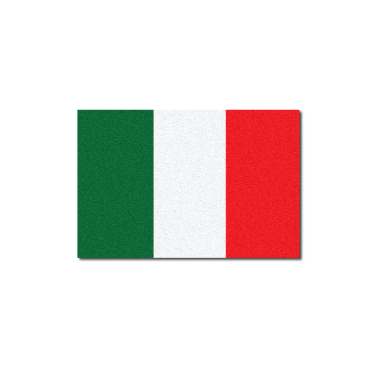 Reflective Italian Flag Decal