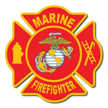 Marine Corps Firefighter Reflective Decal
