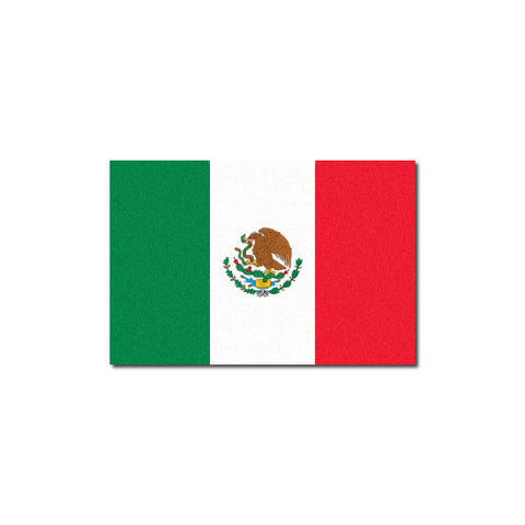 Reflective Mexican Flag Decal