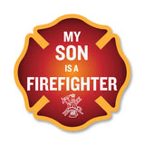 My Son is a Firefighter Maltese Cross Decal - 4