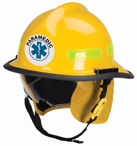 Round Helmet Front Decal - Paramedic