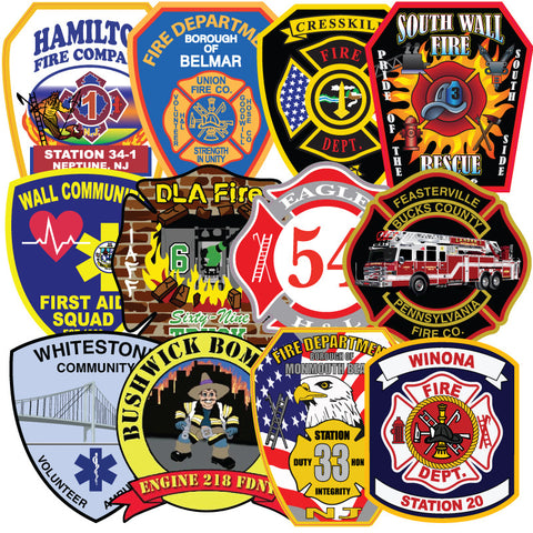 Custom 12 inch Reflective Vehicle or Apparatus Sized Decal