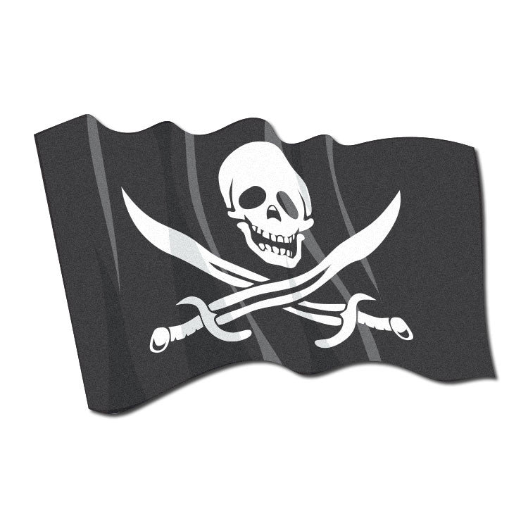 Reflective Waving Pirate Flag Decal