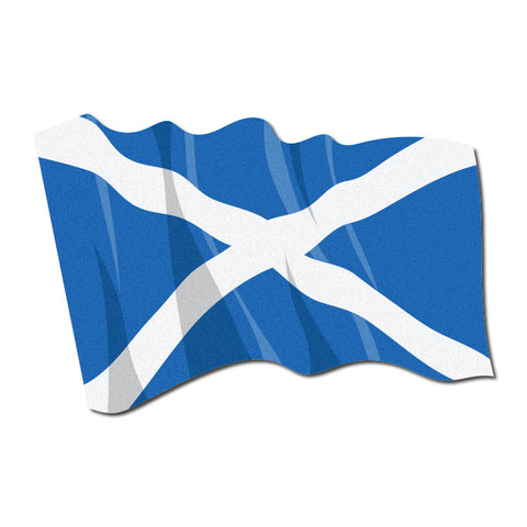 Reflective Waving Scottish Flag Decal