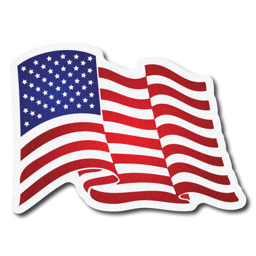 Firetruck - Ambulance - Rig Decal - Waving American Flag - Forward and Reverse