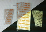 Pager & Radio Equipment Labels - .5