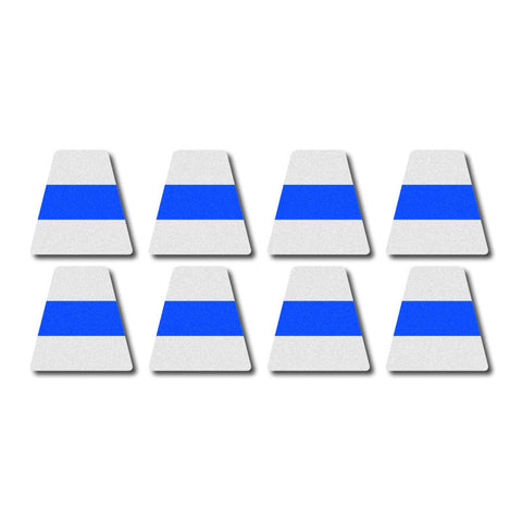 Tetrahedron Set - White w/ Blue Stripe