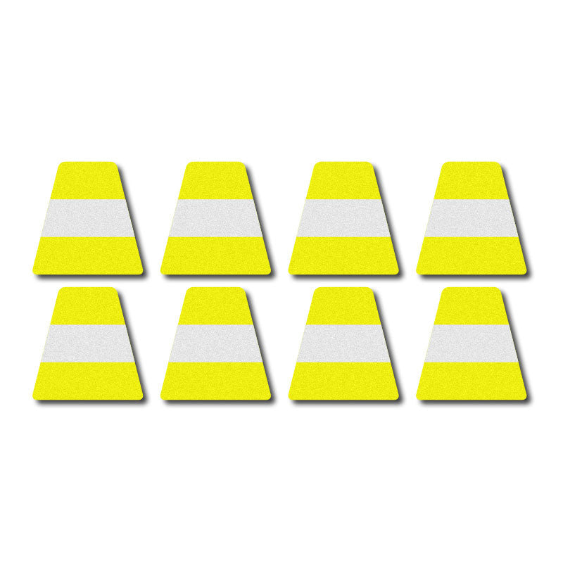 Tetrahedron Set - Lime Yellow w/ Stripe