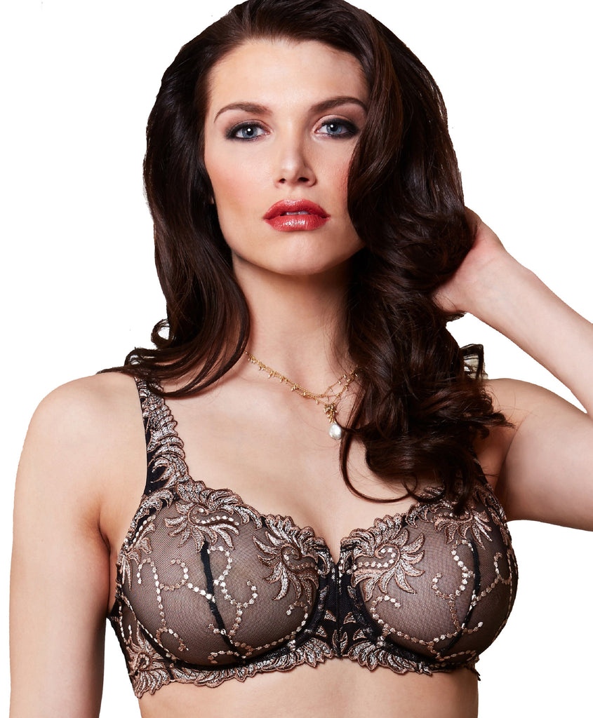 SEVILLA #14011 Embroidered underwire - Up To Size 48