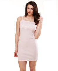 #S52SN-210 Full slip w lace trim