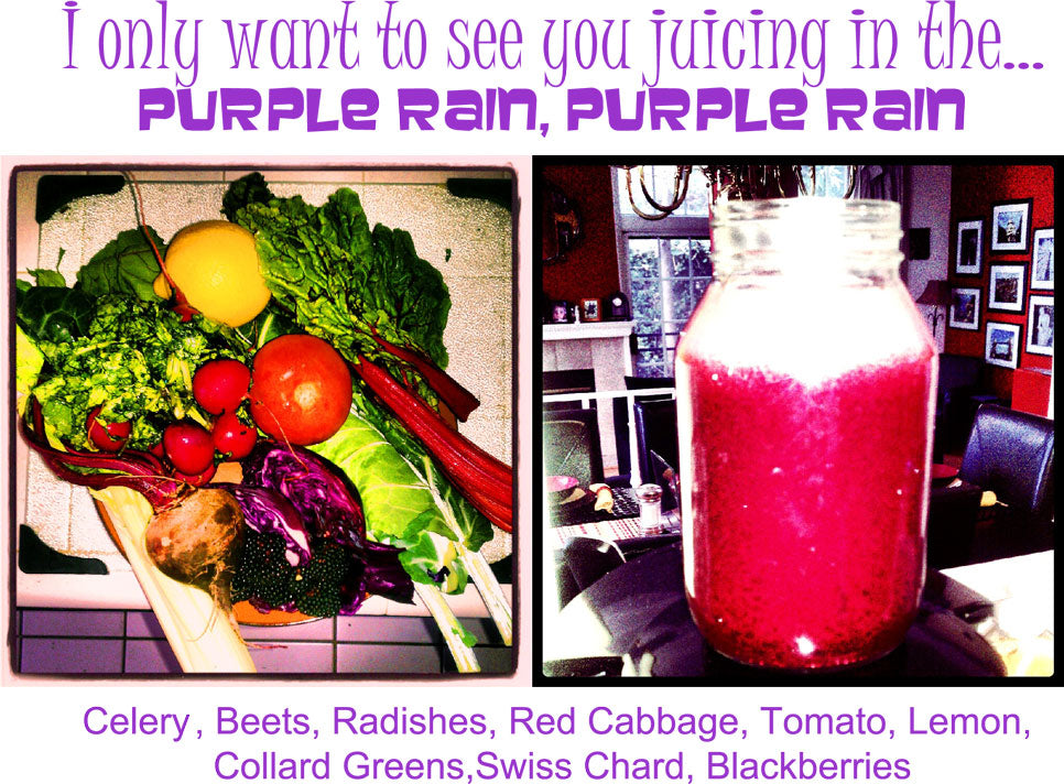 EverydayJuicer.com Recipe - Celery	, Beets, Radishes, Red Cabbage, Tomato, Lemon,  Collard Greens,Swiss Chard, Blackberries