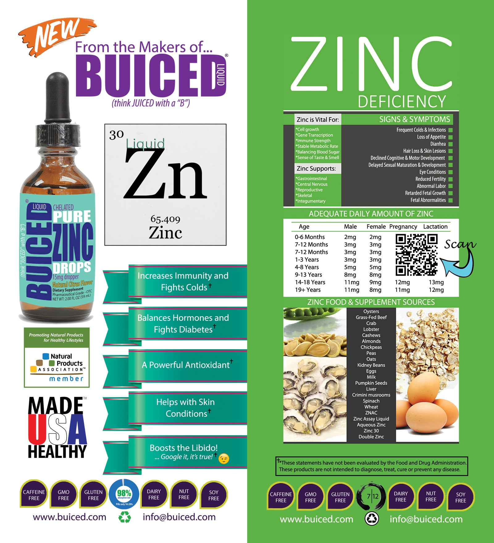 Meet BUICED Liquid Zinc Drops | BUICED Liquid Multivitamins