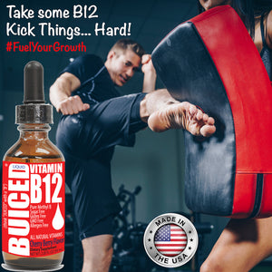 B12 Liquid Drops - 1 Bottle | Methylcobalamin | Vegan | Gluten Free | Allergen Free | Dairy Free | Soy Free | Nut Free | BPA Free | Made in USA