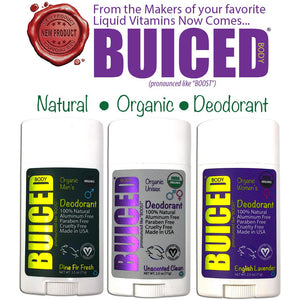 USDA Organic Deodorant | Unisex Unscented - Buiced Liquid Multivitamin | Gluten Free Vitamins | GMO Free Vitamins | Made in USA Vitamins | Best Multivitamin
