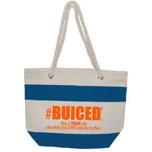 BUICED Beach Bag - Blue/Orange - Buiced Liquid Multivitamin | Gluten Free Vitamins | GMO Free Vitamins | Made in USA Vitamins | Best Multivitamin