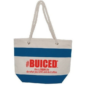 BUICED Beach Bag - Blue/Red - Buiced Liquid Multivitamin | Gluten Free Vitamins | GMO Free Vitamins | Made in USA Vitamins | Best Multivitamin