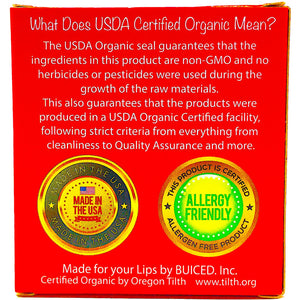 USDA Certified Organic - Cherry 4pack - Buiced Liquid Multivitamin | Gluten Free Vitamins | GMO Free Vitamins | Made in USA Vitamins | Best Multivitamin