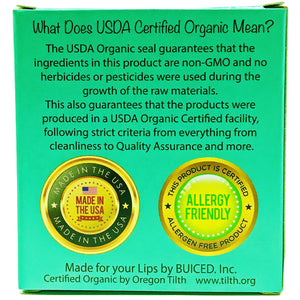 USDA Certified Organic - Eucalyptus Mint 4pack - Buiced Liquid Multivitamin | Gluten Free Vitamins | GMO Free Vitamins | Made in USA Vitamins | Best Multivitamin