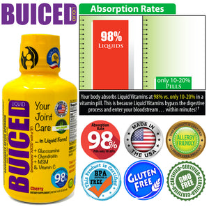 16oz BUICED | Joint Care 2-Pack - Buiced Liquid Multivitamin | Gluten Free Vitamins | GMO Free Vitamins | Made in USA Vitamins | Best Multivitamin