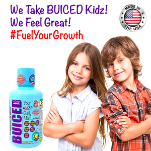 16oz BUICED | Kids Daily Multi - Buiced Liquid Multivitamin | Gluten Free Vitamins | GMO Free Vitamins | Made in USA Vitamins | Best Multivitamin
