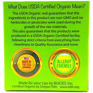 USDA Certified Organic - Peppermint 4pack - Buiced Liquid Multivitamin | Gluten Free Vitamins | GMO Free Vitamins | Made in USA Vitamins | Best Multivitamin