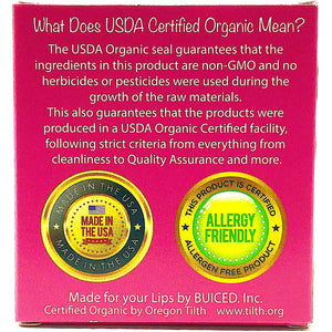 USDA Certified Organic - Raspberry 4pack - Buiced Liquid Multivitamin | Gluten Free Vitamins | GMO Free Vitamins | Made in USA Vitamins | Best Multivitamin