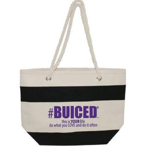 BUICED Beach Bag - Black/Purple - Buiced Liquid Multivitamin | Gluten Free Vitamins | GMO Free Vitamins | Made in USA Vitamins | Best Multivitamin