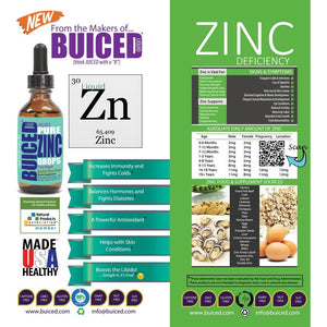 Zinc Liquid Drops - 1 Bottle - Buiced Liquid Multivitamin | Gluten Free Vitamins | GMO Free Vitamins | Made in USA Vitamins | Best Multivitamin