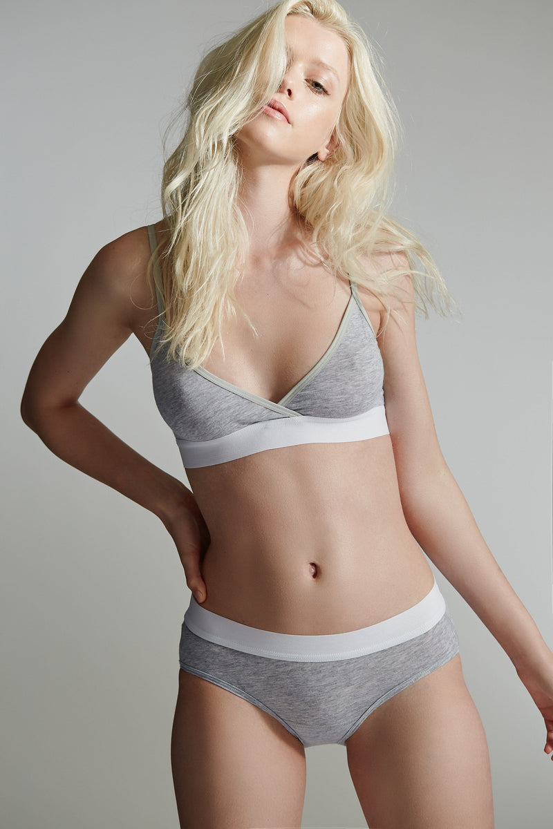Buckingham Bra 2 / Heather Grey / Supima Jersey