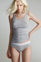 The Beachwood Tank / Heather Grey / Supima Jersey