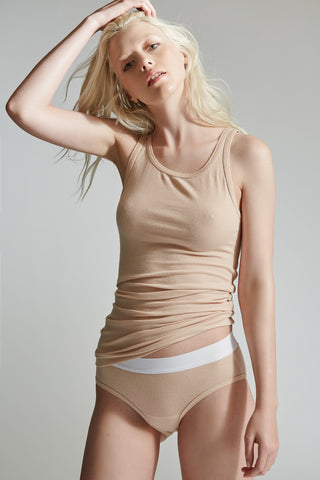 The Beachwood Tank / Nude / 2 x 1 Rib