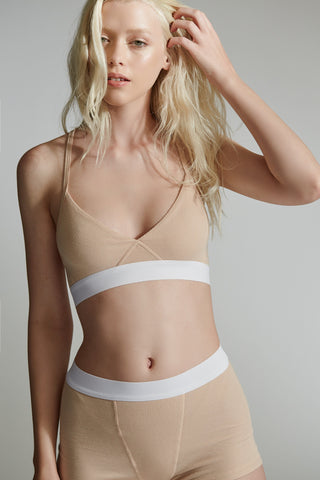 The King's Cross Bra / Nude / 2 x 1 Rib