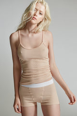 The Laurel Camisole / Nude / 2 x 1 Rib