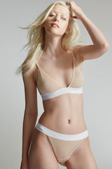The Paradise Cove Bra 2 / Nude / 2 x 1 Rib