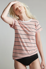 The Camden Crew 2 / Pink / Jersey Stripe