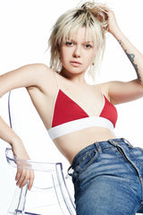 Paradise Cove Bra 2 / Red / Supima Jersey