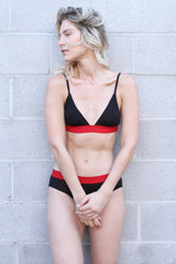 The DTLA Brief / Black with Red Band / Supima Jersey
