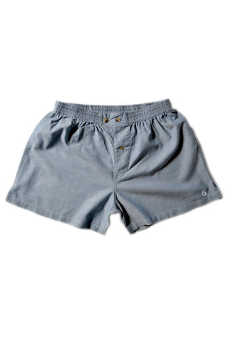 The Sloane Signature Boxer / Pacific Blue / Cotton