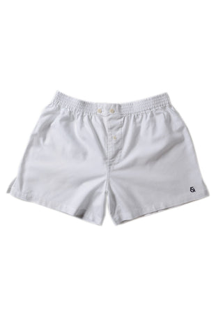 The Sloane Signature Boxer / White / Cotton