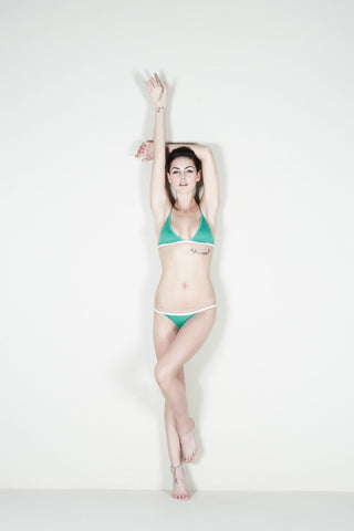 The Paradise Cove Bra / Emerald / Supima Jersey