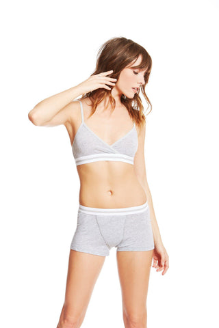 The Buckingham Bra / Heather Grey / Supima Jersey