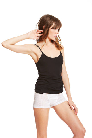 The Laurel Camisole / Black / 2 x 1 Rib